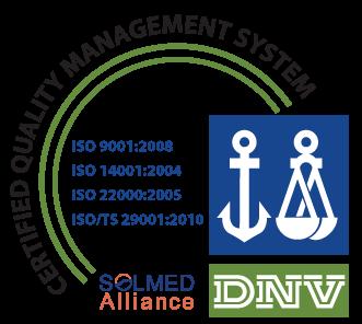 SOLMED ISO Logo DNV ISO 9001 14001 22000 29001